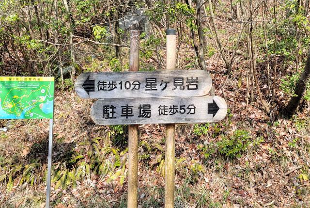 徒歩○分の看板