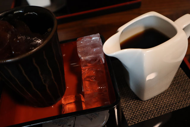 桐生珈琲萩原店の水出しアイスコーヒー