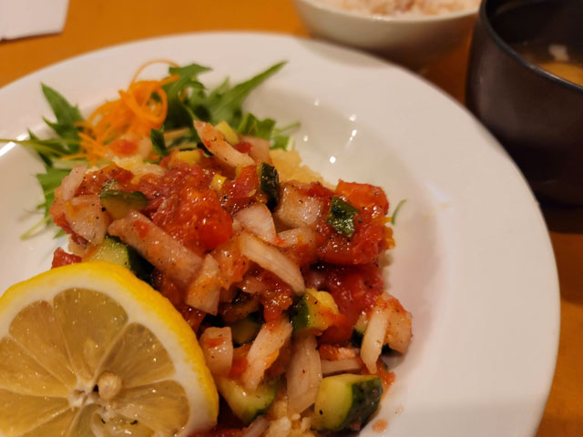 赤魚サルサソース