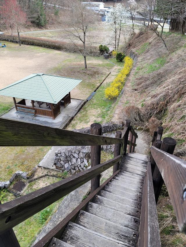 車田史跡公園の展望台