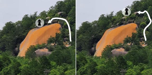紅岩へのルート