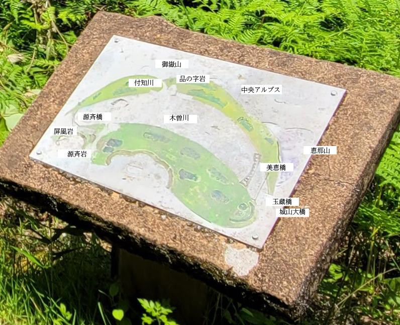 源斎公園の案内図