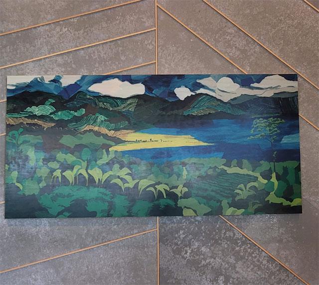 壁に飾られたスタバのアート