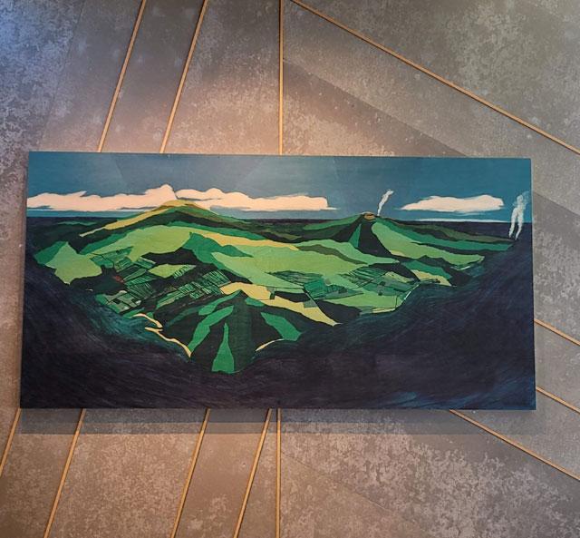 山々を描いたアート