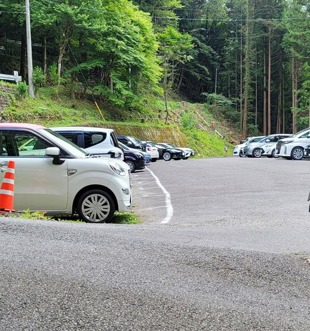 上の駐車場も下の駐車場もあまり変わらない