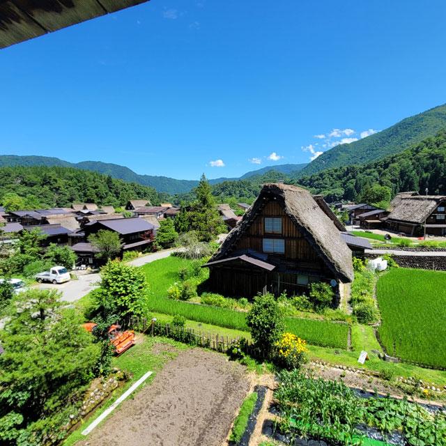 明善寺の庫裡郷土館から眺める景色