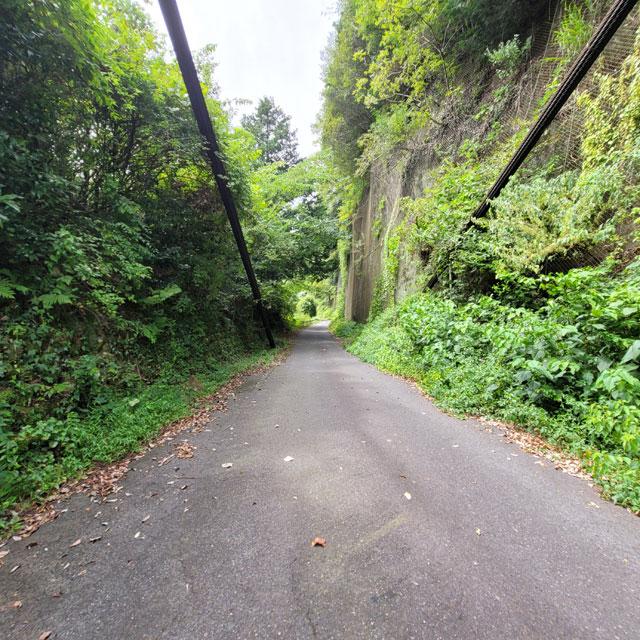 このまま道を走らせれば丸山ダム方面に行くことが出来る